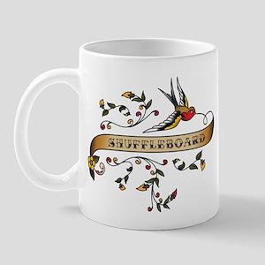 Shuffleboard Scroll Mug