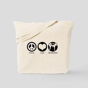 Peace Love Kickboxing Tote Bag