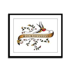 Rockhounding Scroll Framed Panel Print