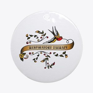 Respiratory Therapy Scroll Ornament (Round)