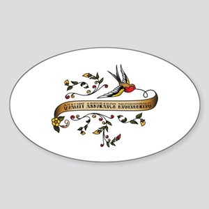 Quality Assurance Engineering Scroll Sticker (Oval