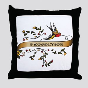 Projection Scroll Throw Pillow