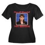 Sarah Palin You Betcha Women's Plus Size Scoop Nec