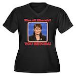 Sarah Palin You Betcha Women's Plus Size V-Neck Da