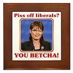 Sarah Palin You Betcha Framed Tile
