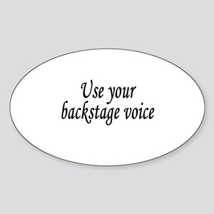Backstage Voice Oval Sticker