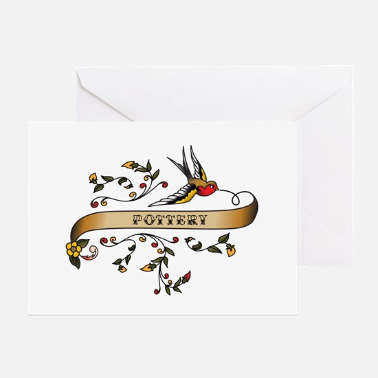 Pottery Scroll Greeting Card