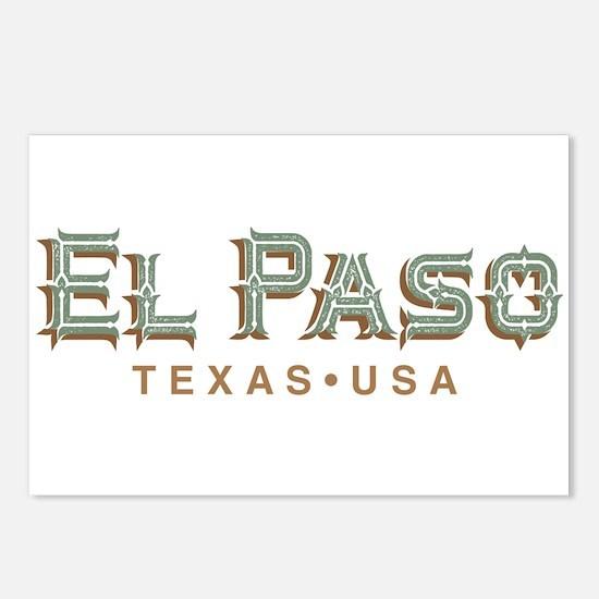 Retro El Paso Postcards (Package of 8)