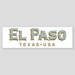 Retro El Paso Bumper Sticker