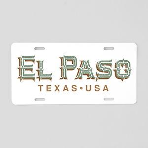 Retro El Paso Aluminum License Plate