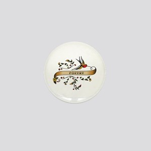 Poetry Scroll Mini Button