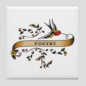 Poetry Scroll Tile Coaster