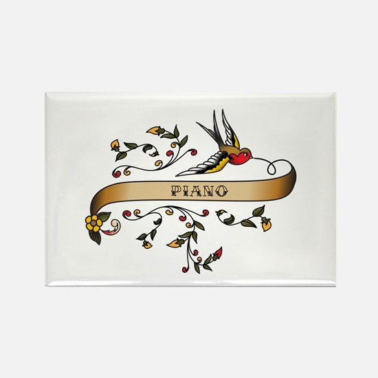 Piano Scroll Rectangle Magnet