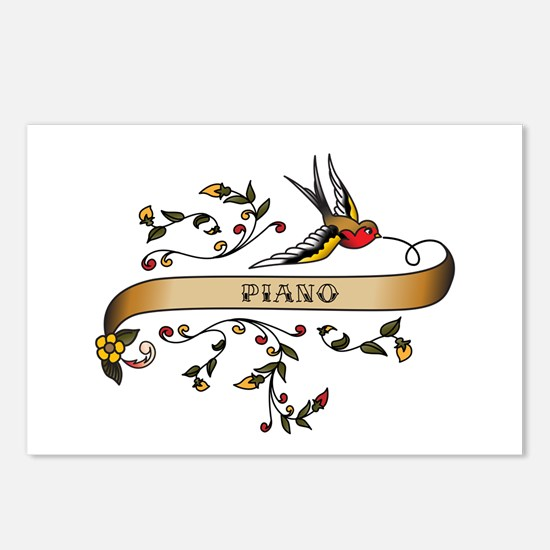 Piano Scroll Postcards (Package of 8)
