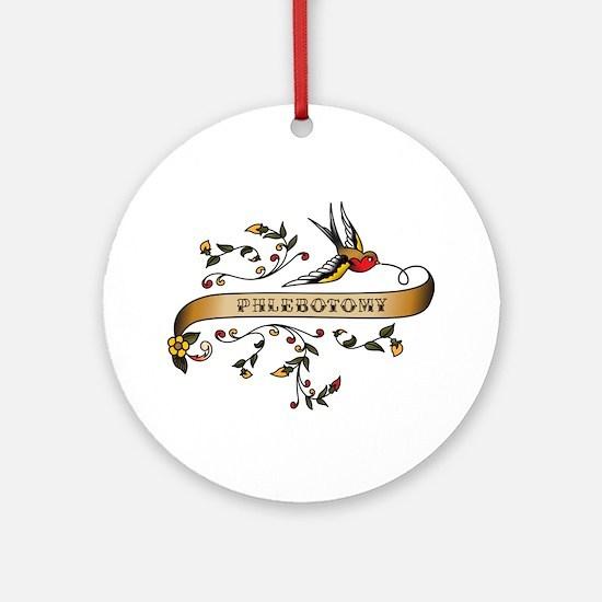 Phlebotomy Scroll Ornament (Round)