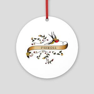 Payroll Scroll Ornament (Round)