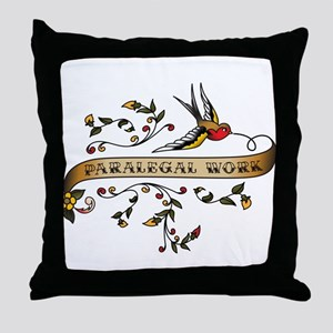 Paralegal Work Scroll Throw Pillow