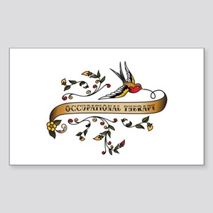 Occupational Therapy Scroll Rectangle Sticker