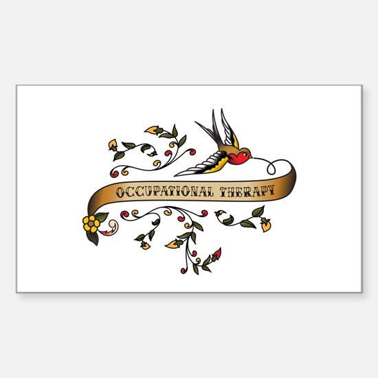 Occupational Therapy Scroll Rectangle Decal