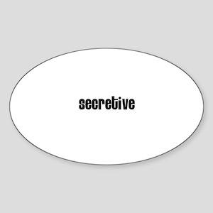 Secretive Oval Sticker