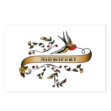 Midwifery Scroll Postcards (Package of 8)