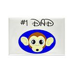 #1 dad Rectangle Magnet (10 pack)