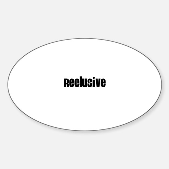 Reclusive Oval Decal