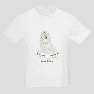 White Shih Tzu Christmas Kids T-Shirt