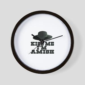 Kiss Me I'm Amish Wall Clock