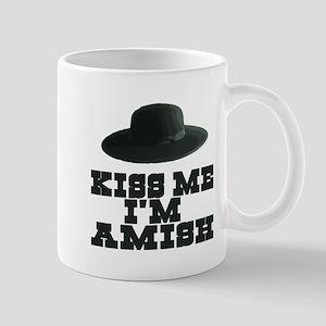 Kiss Me I'm Amish Mug