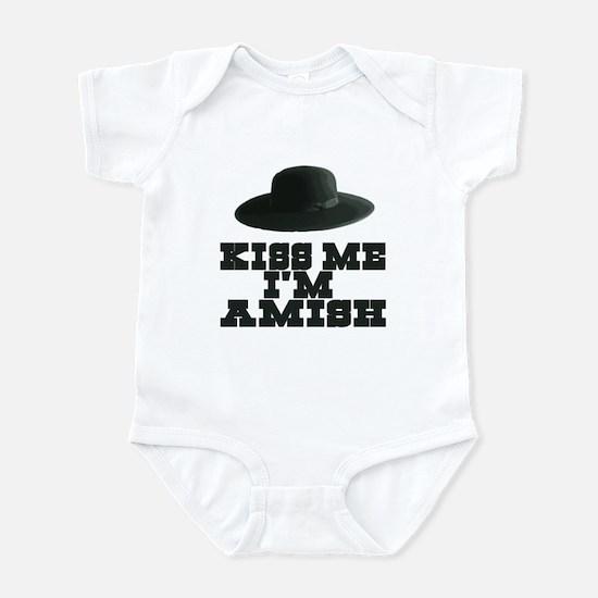Kiss Me I'm Amish Infant Bodysuit