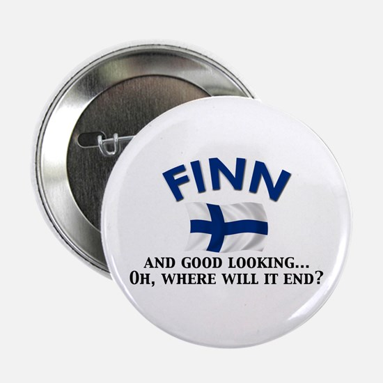 "Good Lkg Finn 2 2.25"" Button"