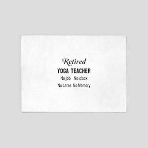 Retired Yoga Teacher 5'x7'Area Rug