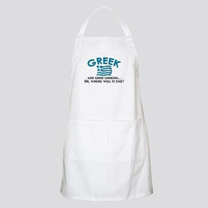 Good Lkg Greek 2 BBQ Apron