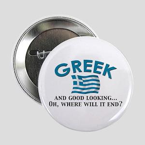 """Good Lkg Greek 2 2.25"""" Button"""