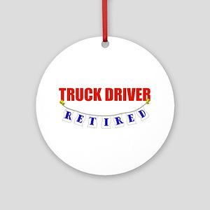 Retired Truck Driver Ornament (Round)