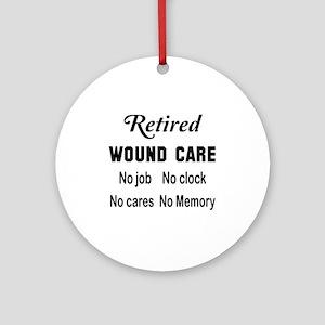 Retired Wound care Round Ornament