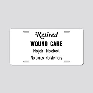 Retired Wound care Aluminum License Plate