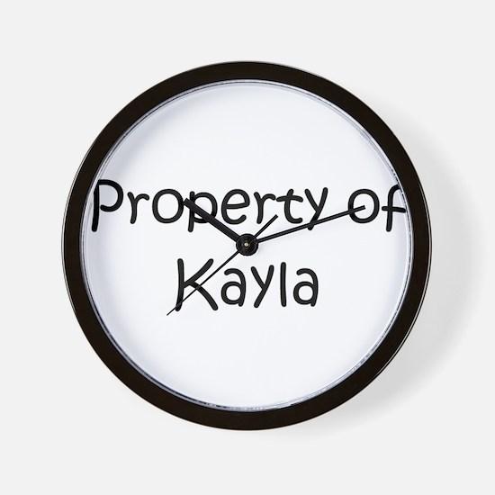 Unique Kayla Wall Clock