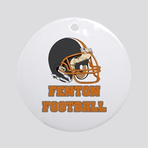 Fenton Football Ornament (Round)