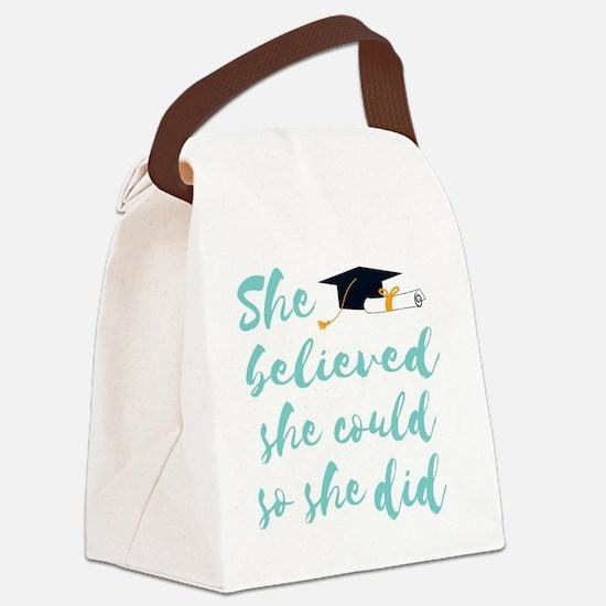 Unique Could Canvas Lunch Bag