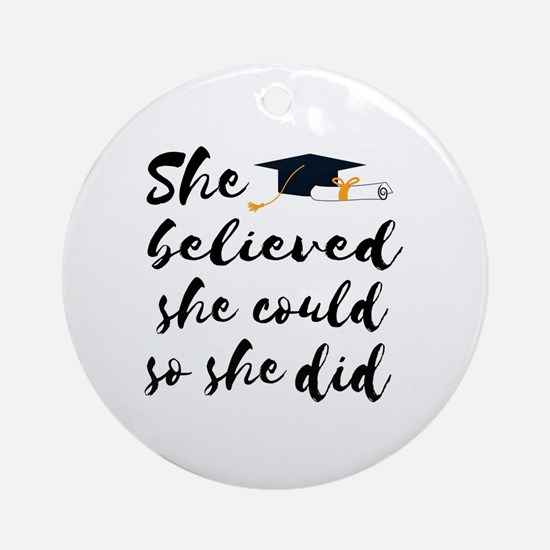 Cute Graduation Round Ornament