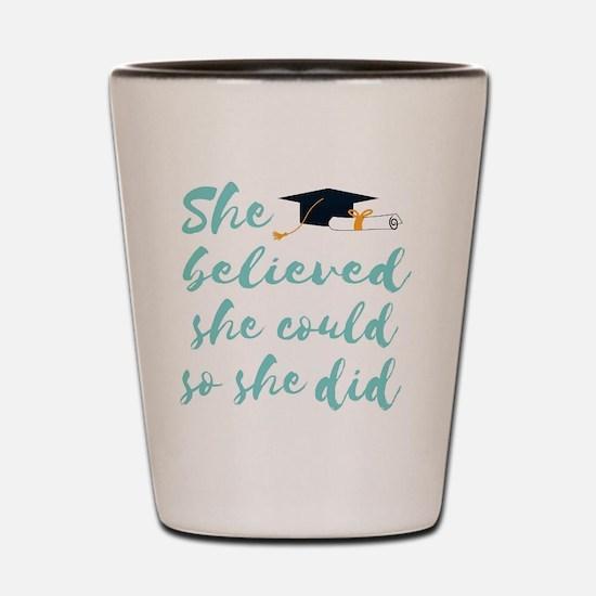 Unique College graduation Shot Glass
