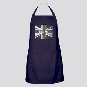 England Flag Shades of Gray Distresse Apron (dark)