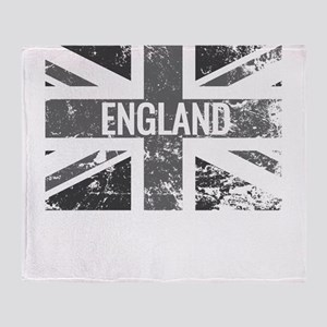 England Flag Shades of Gray Distress Throw Blanket