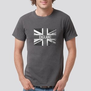 England Flag Shades of Gray Distressed T-Shirt