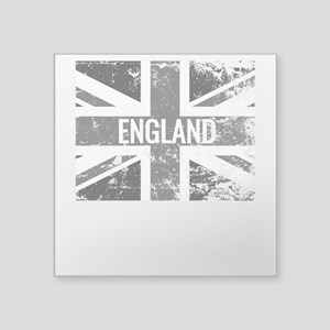 England Flag Shades of Gray Distressed Sticker