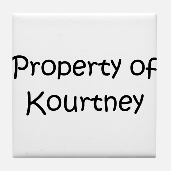 Unique Kourtney Tile Coaster