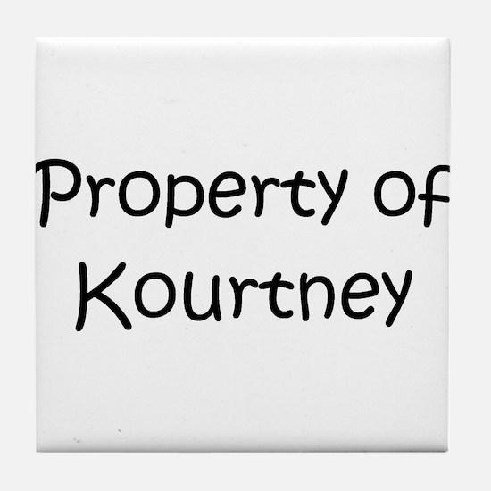 Funny Kourtney Tile Coaster