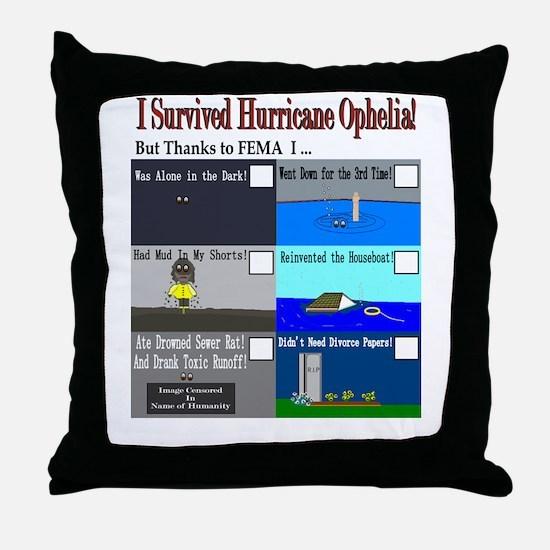 I Survived Hurricane Ophelia Throw Pillow